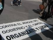En la Plaza del Torico, preparando la manifestación