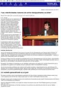 Manuel Vicent en la charla sobre colectividades