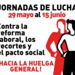 CNT, CGT y SO convocan jornadas de movilización del 29 al 15 de junio