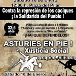[CNT-Zaragoza] 10 de enero concentración en apoyo a los mireros Asturianos y contra la represión a la clase obrera