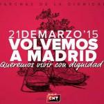 [Marchas de la dignidad] Este 21 M volvemos a Madrid para exigir pan, techo, trabajo y dignidad