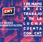 [CNT-ZGZ] El 1 de mayo, ven con la CNT