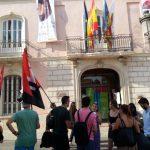 [CNT-Educación] Piquete informativo de la CNT ante la incoación  de un expediente  disciplinario a un compañero de enseñanza en Daroca (Zaragoza).