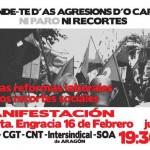 CNT apoya las movilizaciones conjuntas y apuesta por continuar el trabajo entre organizaciones sindicales hacia la huelga general