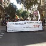 """Cientos de personas se manifiestan en Zaragoza contra los """"hogares sociales neonazis"""""""