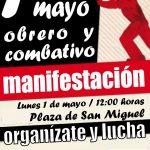 [CNT-Zaragoza] Manifestación del 1º de mayo, plaza San Miguel a las 12 horas