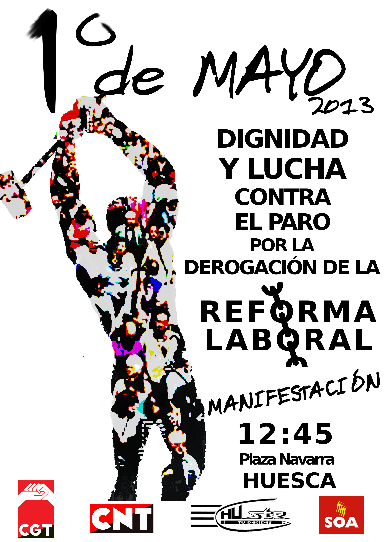 Huesca manifestaci n 1 de mayo cnt arag n rioja for Gimnasio 1 de mayo