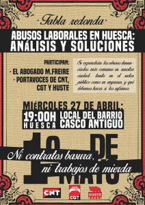 1mayo2016 CNT Huesca Tabla