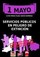 [CNT-Huesca] 1 DE MAYO –                              Manifestación : 12 h. Plaza Santo Domingo