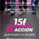 [CNT Logroño] 15F. Acude a la Jornada ¡Que el paro no te pare!
