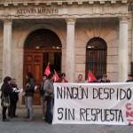 [CNT-Teruel] Primera concentración contra los despidos en URBAN