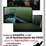 [CNT-Zaragoza] Concentración en la sede del PSOE por la libertad sindical en el Ayuntamiento