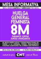 [CNT-Huesca] Mesa informativa Huelga General Feminista 8M
