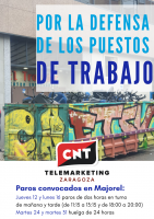 [CNT-Majorel]CNT apoya críticamente la convocatoria de paros parciales en Majorel y llama a la unidad para extender la contundencia de la huelga