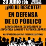 [Zaragoza] ¡¡No al rescate!! 23-J manifestación