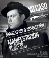 Desde Zaragoza este sábado 7 de abril a inundar Logroño, MANIFESTACIÓN por la absolución de Pablo y Jorge