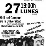 [Teruel] 29-F Huelga estudiantil y manifestación contra esta Reforma Laboral