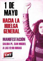 [CNT Zaragoza] Manifestación: CNT celebrará un 1º de Mayo enmarcado en la lucha feminista dentro del mundo sindical