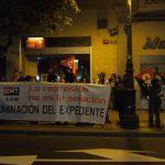 [CNT-SALUD] Concentración a las puertas de la sede del PSOE en Zaragoza en repulsa por los expedientes disciplinarios abiertos a dos miembros de la Sección Sindical de CNT en el SALUD
