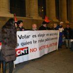 [CNT-Zaragoza] Campaña por la Abstención Activa: Crónica de la concentración y performance en la Plaza de España