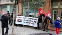 [CNT-Zaragoza] Nuestra solidaridad responde frente a la sede de Eurofirms ETT.