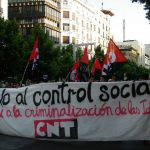 """[CNT-Zaragoza] Crónica de la manifestación contra la """"Ley Mordaza"""""""