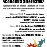 [CNT-Teruel] Presentación del Ateneo Libertario de Teruel y jornadas economía alternativa.
