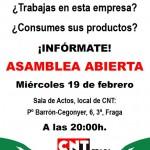 [CNT-Fraga] Mercadona acosa y despide: asamblea informativa el 19 febrero