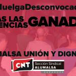 [CNT-Zaragoza] Se desconvoca la huelga en Alumalsa al aceptarse todas las exigencias de la sección sindical de la CNT y el comité de empresa