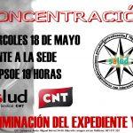 [CNT-SALUD] Concentraciones todos los miércoles frente a la sede del PSOE: ¡Retirada del expediente YA!
