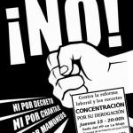 [CNT-Logroño] Jueves 15 y 22 /20:00/ CONCENTRACIONES en la sede del PP y de la FER contra la reforma y los recortes