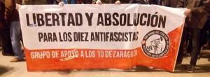 CNT - Libertad y absolucion para los 10 antifascistas de zaragoza
