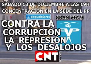 CNT-ZARAGOZA-CONCENTRACION-PP-contra-corrupcion-represion-desalojos