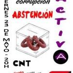 [CNT-Zaragoza] Concentración Abstencionista el Viernes 23 de Mayo 20h