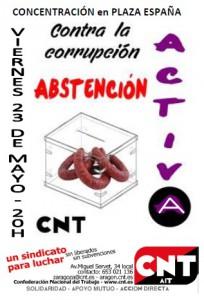 CNT-Zaragoza-Abstención-Aciva-elecciones-25M