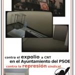 [CNT-Zaragoza] Finaliza el conflicto por el asalto y robo del local de la Sección Sindical en el Ayuntamiento de Zaragoza.