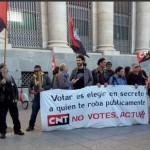 [CNT-Zaragoza] Crónica concentración mayo 2015 por la Abstención Activa