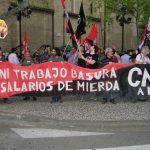[CNT-Zaragoza] Crónica de la manifestación en solidaridad y apoyo a los trabajadores de FCC.