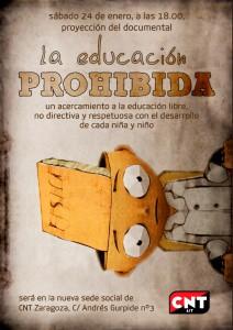 CNT-Zaragoza-la educación prohibida-web