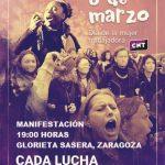 [CNT-Zaragoza] Manifestación 8 de marzo 19 horas Glorieta Sasera