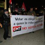 [CNT-Zaragoza] Campaña por la Abstención Activa: Crónica de la concentración frente al Centro Comercial Gran Casa