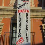 [CNT-Fraga] Acción solidaria con los compañeros del SALUD