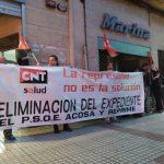 [CNT-SALUD] Crónica concentración PSOE por el expediente anulado