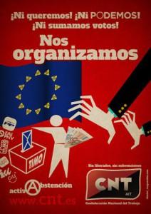 Cartel CNT abstencionismo baja