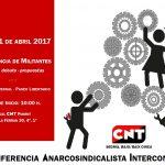 2ª Conferencia Anarcosindicalista Intercomarcal de la CNT del Segrià y el Bajo/Baix Cinca