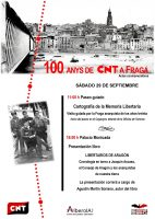 Actos conmemorativos del Centenario de la CNT Fraga, 29 septiembre