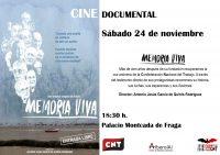Presentación en Fraga de la película Memoria Viva