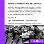 [CNT-Fraga] Historia en femenino.  Mujeres Libertarias. Charla viernes 4 de marzo