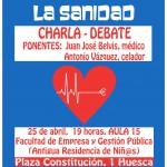 [Huesca] 25 de abril: No nos toquéis la sanidad. Ni copago ni privatización.
