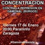 [CNT-Zaragoza] Concentración contra la represión en Gamonal (Burgos)